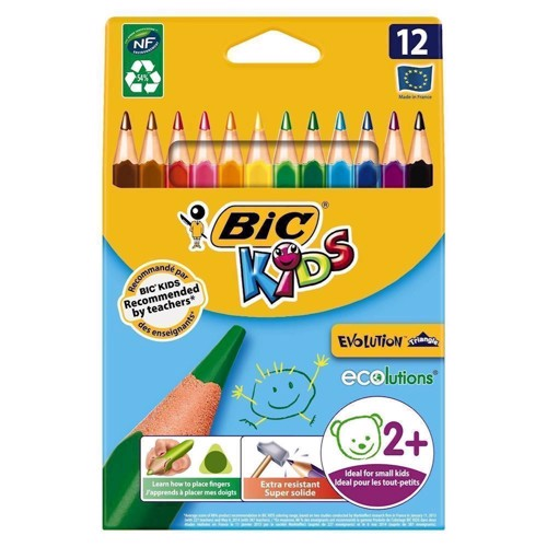 Image of BIC - Kids, Farveblyanter, 12 stk (3086124001632)