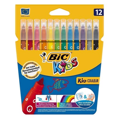 Image of   BIC - Kids, Tusser, tuscher, 12 stk