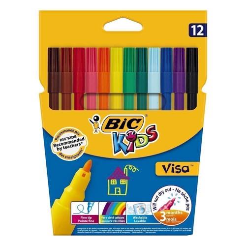 Image of BIC - Kids, Tusser, tuscher, 12 stk (3270220002758)