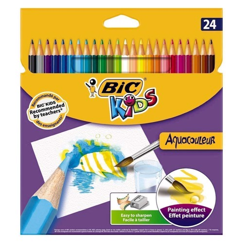 Image of BIC - Kids, Farveblyanter, Aquacouleur, 24 stk. (3270220003496)