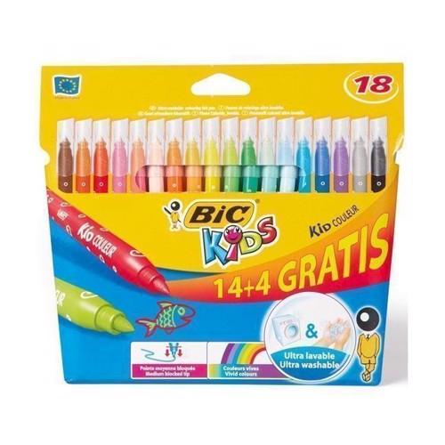Image of   BIC - Kids, Tusser/tuscher, 14+4 stk
