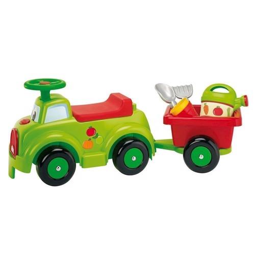 Image of   Ecoiffier gå bil med trailer og tilbehør