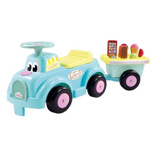 Image of   Ecoiffier gå bil med isbutik trailer