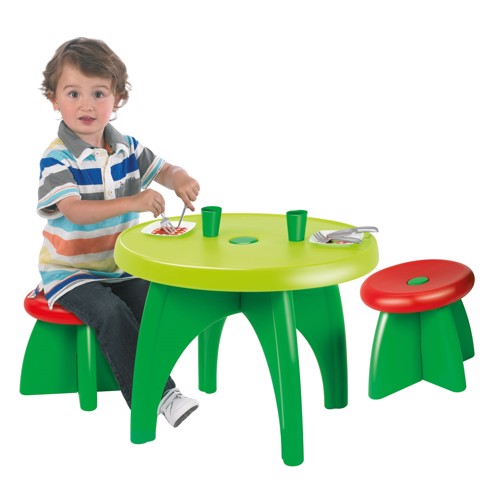 Image of   Ecoiffier garden table with accessories, 11dlg.