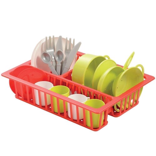 Ecoiffier 100% Chef dish rack with crockery