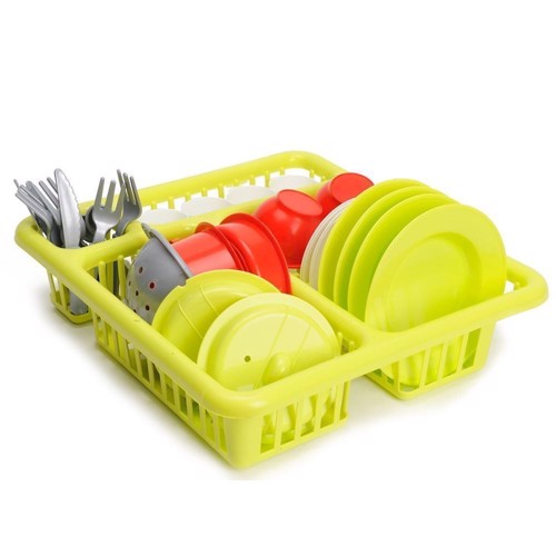 Image of Ecoiffier 100% Chef Dishes in dish rack (3280250006084)