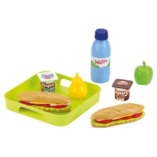 Image of Ecoiffier 100% Chef Sandwich Set with tray (3280250009559)