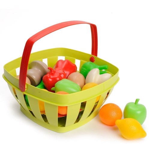 Image of Ecoiffier 100% Fruit and vegetables in Chef Basket