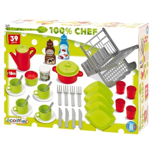 Image of Ecoiffier 100% Chef Dinnerware, 39dlg. (3280250026198)