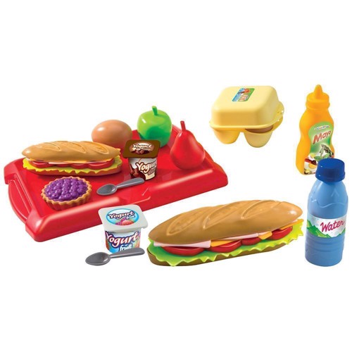 Image of Ecoiffier toddler mealtime set with Tray (3280250026303)
