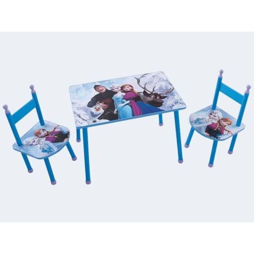 Image of   Børnemøbler, Havesæt med bord og stole, Frozen