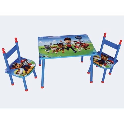 Image of   Børnemøbler, Havesæt med bord og stole, Paw Patrol