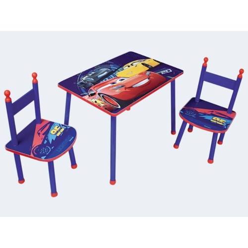 Image of   Børnemøbler, Havesæt med bord og stole, Cars