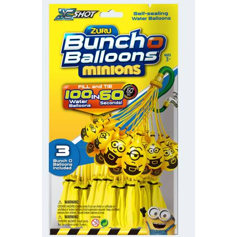 Image of   Bunch Balloons 3x35 vandbalonner med Minions