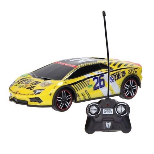 Image of Fjernstyret racerbil, 1:14, gul
