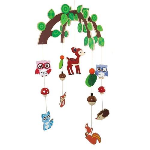 Image of Uro i træ med dyr fra skoven (3800966004824)