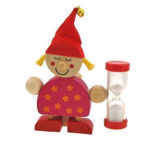 Image of   Tandbørste holder med timer, rød