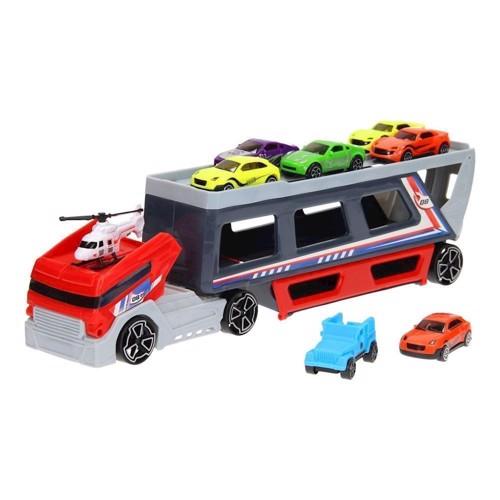 Image of   Legetøjsbiler, AutoTransporter med biler