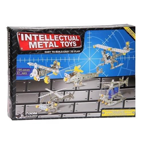 Image of   Metal byggesæt, flyvemaskiner, 195 dele