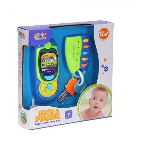 Image of   Babylegetøj, Nøgler & telefon med lys & lyd
