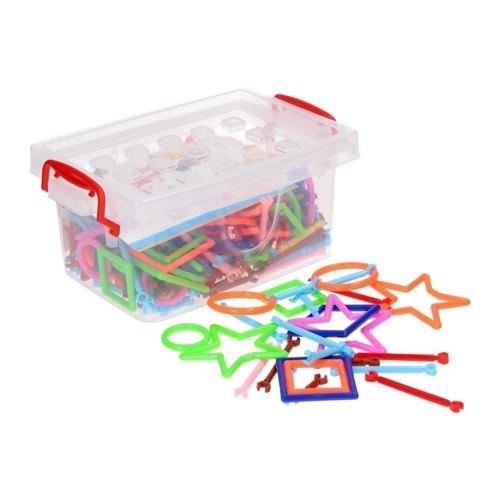 Image of   Kreativt legetøj, Kasse med byggeelementer, 240 dele