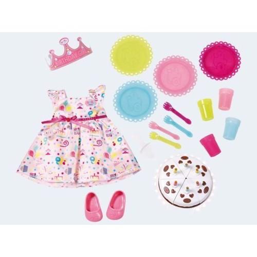 Image of Baby Born Deluxe fødselsdags sæt med tøj og tilbehør