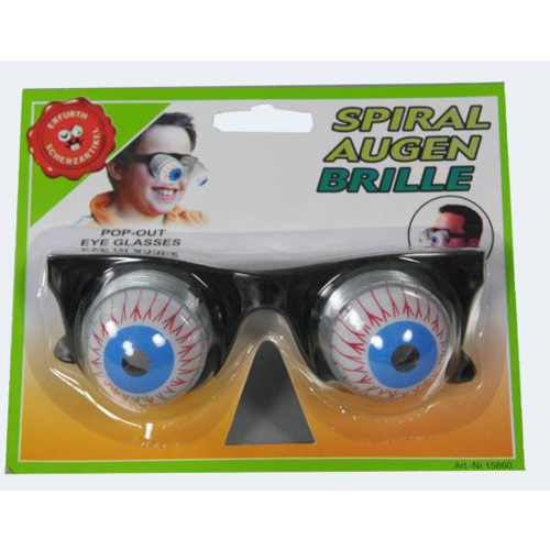 Image of   Brille med spiral øjne