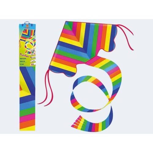 Image of   Drage i regbue farver 54x98cm Nylon