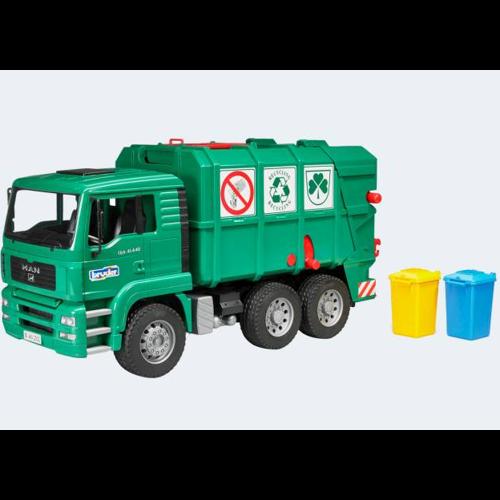 Image of Bruder skraldebil 47cm MAN TGA grøn (4001702027537)