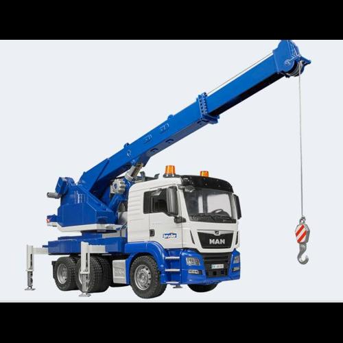 Image of   Bruder lastbil MAN TGS LKW kran med lys og lyd