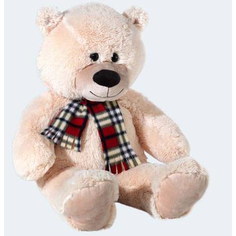 Image of   Bamse bjørn med tørklæde 80cm