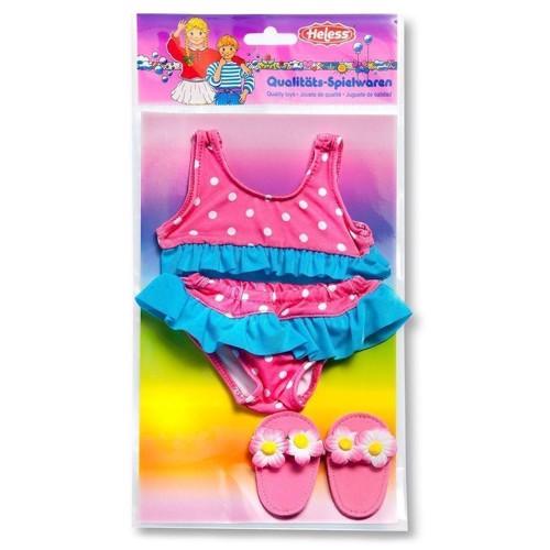 Image of   Dukketøj, bikini med slippers til dukker på 28-35 cm