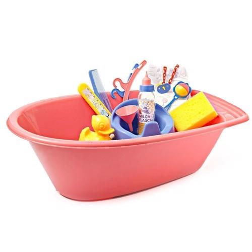 Image of   Dukke badekar med tilbehør