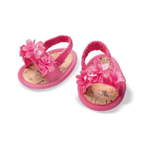 Image of   Dukketøj, Blomster sandaler til dukke på 38-45 cm