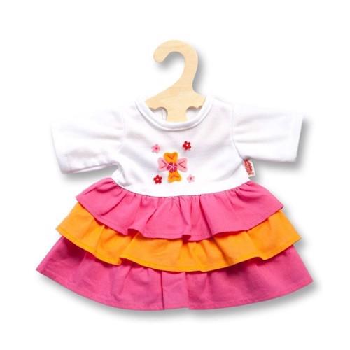 Dukketøj, kjole pinky til dukker på 28-35 cm