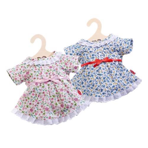 Image of   Dukketøj, blomster kjole til dukker på 35-45 cm
