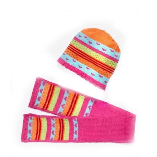 Image of   Dukketøj, hat og tørklæde til dukker på 35-45 cm