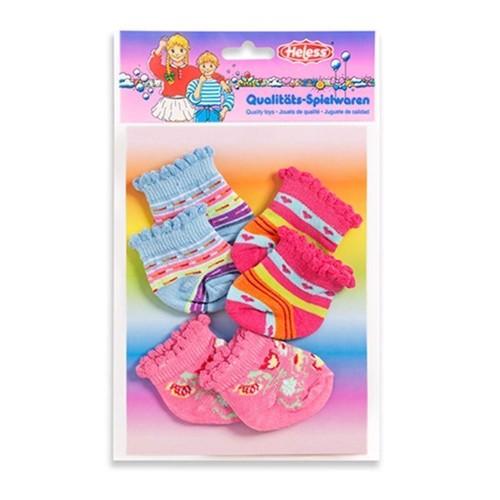 Image of   Dukketøj, 3 par dukke sokker til dukker på 35-46 cm