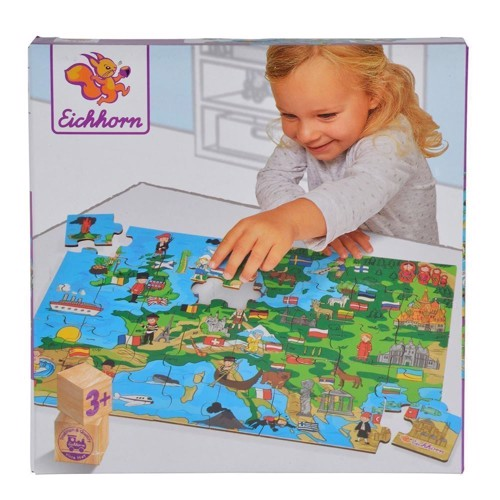 Image of Eichhorn Puzzle Europe, 40st. (4003046036275)