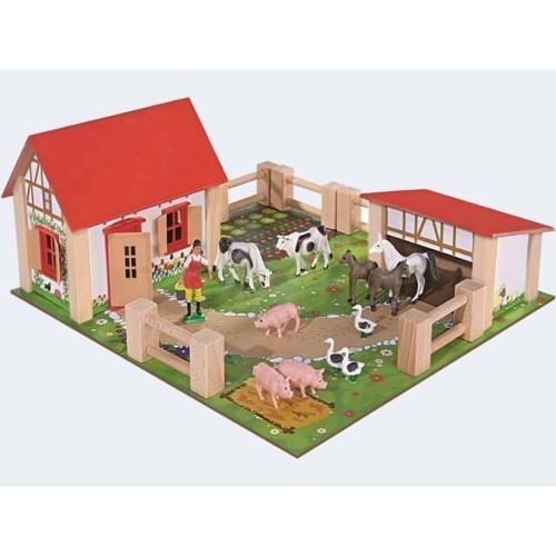 Image of Eichhorn bondegård med dyr og tilbehør (4003046043044)