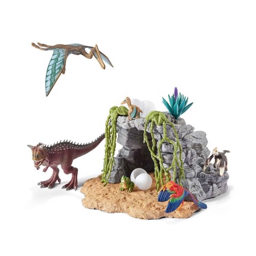 Image of Schleich 42261, dinosaursæt med hule (4005086422612)