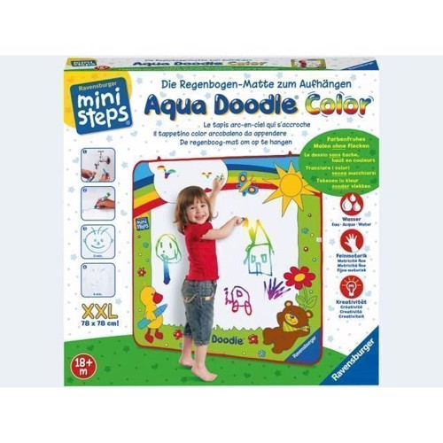 Image of Aqua Doodle XXL Color 78x78cm regnbuemåtte (4005556045457)
