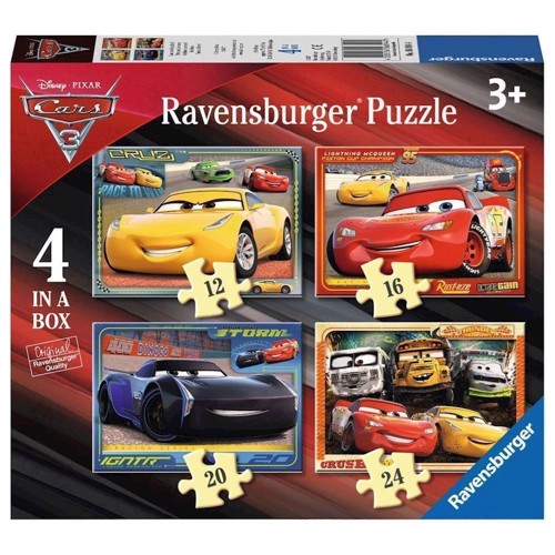 Image of   Disney Cars 3 Puzzle, 4in1