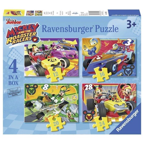 Ravensburger, Puslespil, Mickey and the Roadster Racers, 4in1