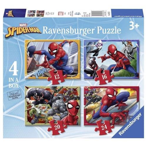 Ravensburger, Puslespil, Spiderman, 4in1