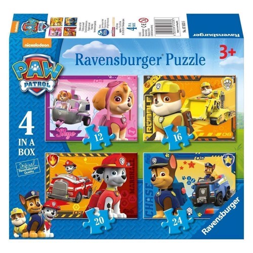 Image of Ravensburger Paw Patrol Puppies on Path puslespil, 4 in 1