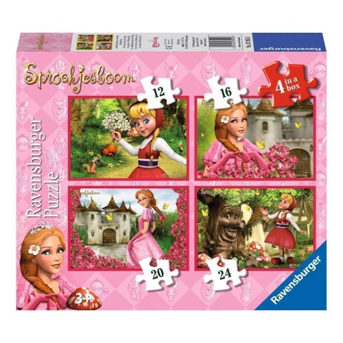 Your girlfriends from the Efteling puzzle, 4 in 1