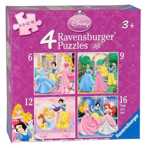 Image of   Ravensburger Disney Princess, 4 in 1