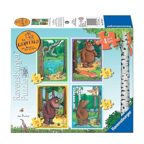 Image of The Gruffalo jigsaw puzzle, 4 in 1