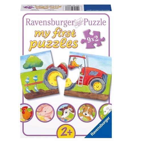 Ravensburger puslespil On the farm, 9x2st.